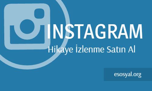 instagram hikaye izlenme satın al